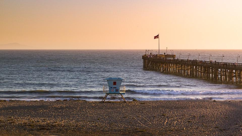 Santa Barbara coucher de soleil californie