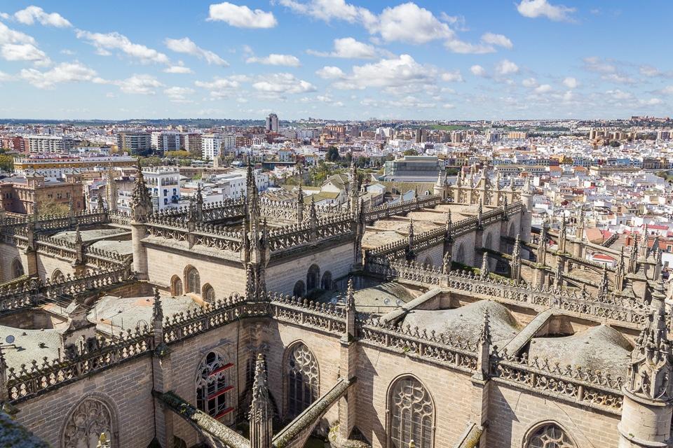 panorama cathédrale séville