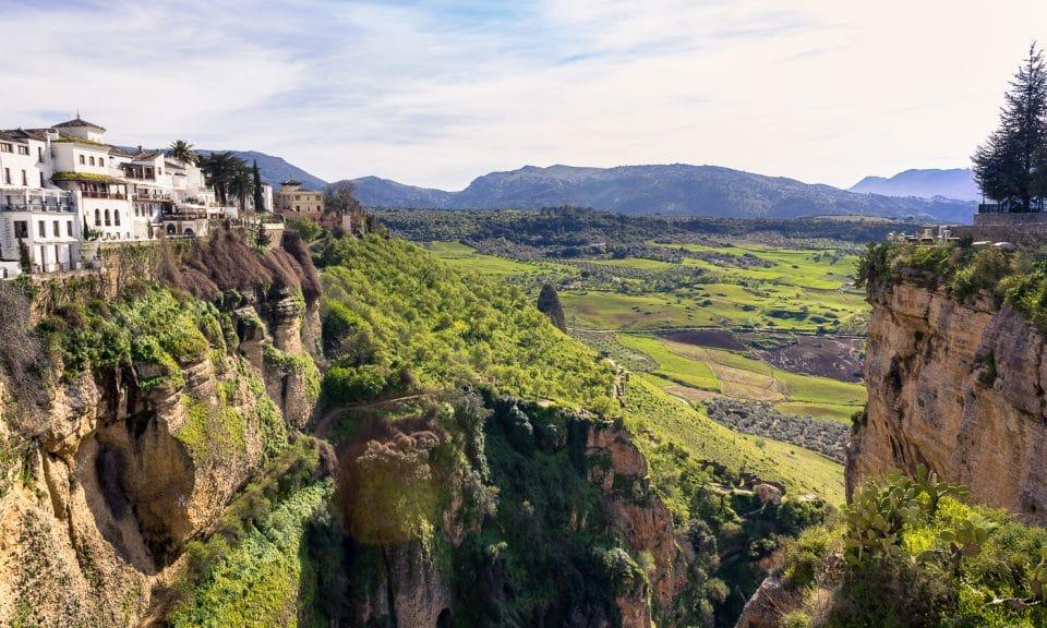 route des villages blancs en Andalousie