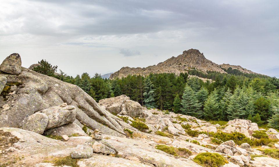 montagnes du monte limbara en Sardaigne
