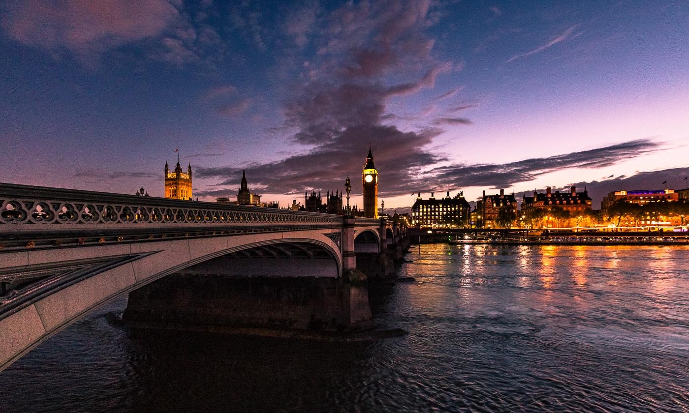 westminster bridge londres nuit
