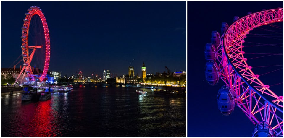 london eye londres de nuit tamise