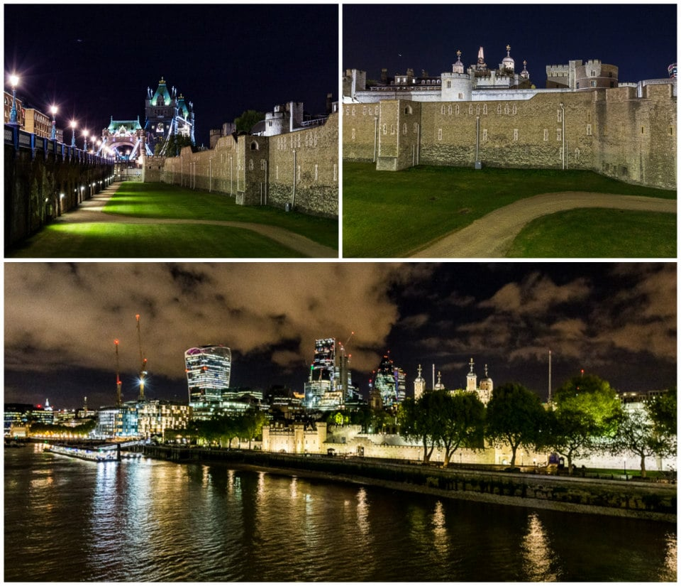 tower of london londres de nuit tamise