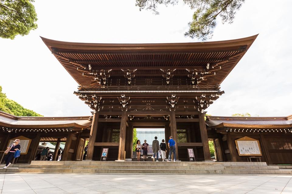 shrine Meiji-jingu quartiers incontournables sud Tokyo