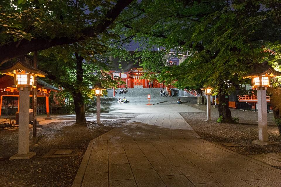shinjuku shrine tokyo by night