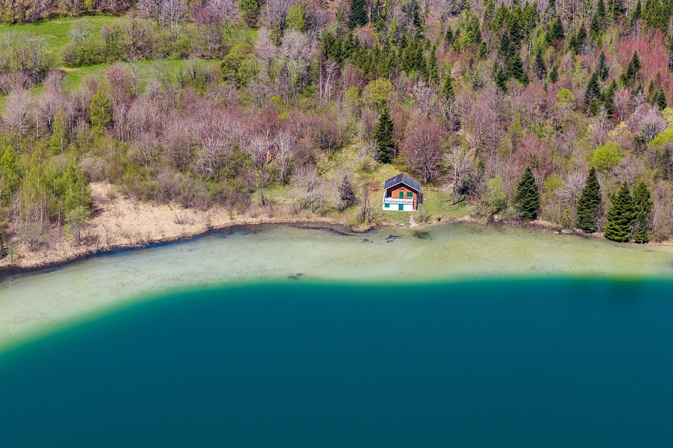 jura maison foret lac