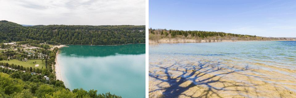 les lacs du jura en été