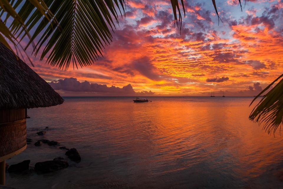polynesie borabora sunset