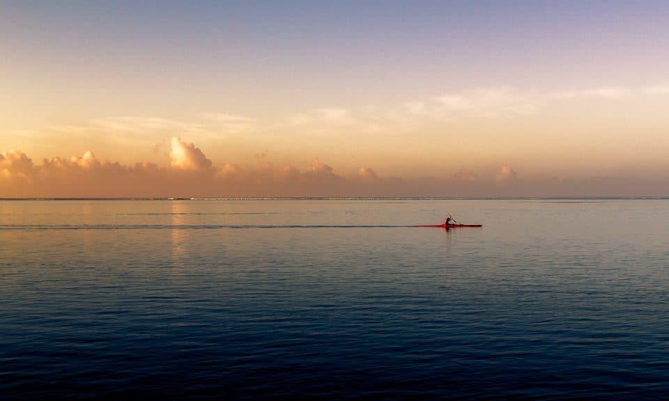 lever de soleil lagon tahiti