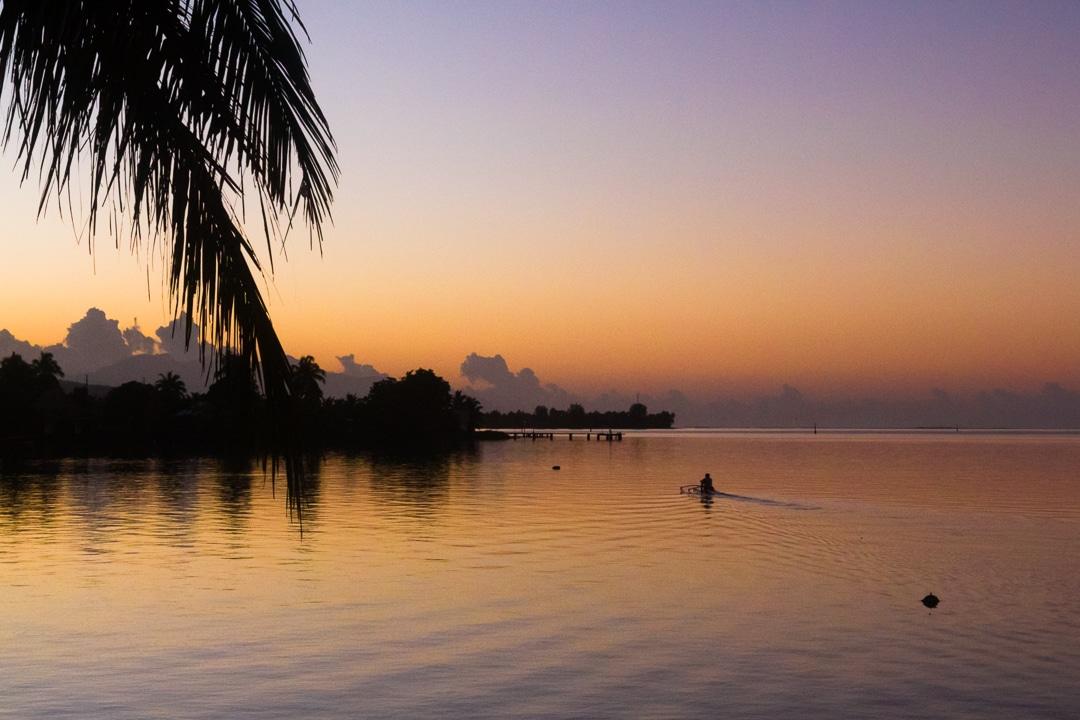 tahiti coucher soleil
