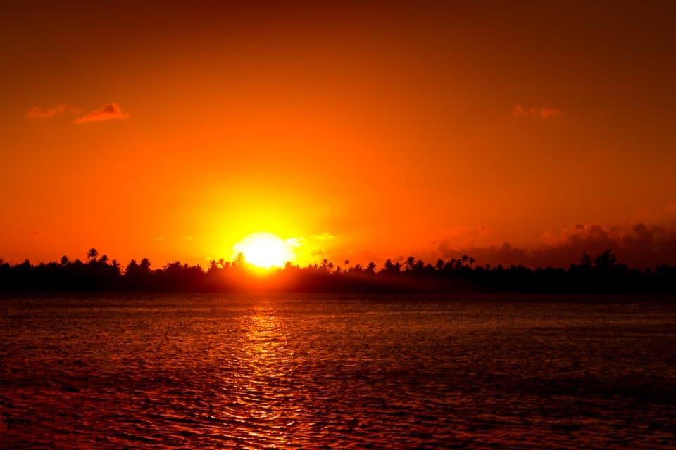 polynésie coucher soleil
