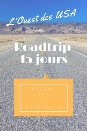 roadtrip 15 jours ouest américain