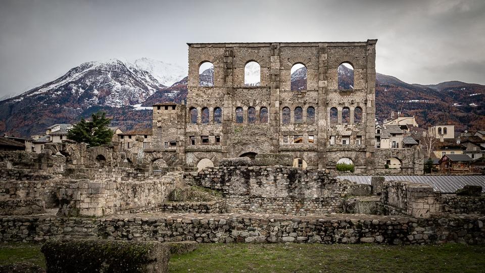 aoste amphithéâtre romain