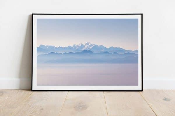 mont blanc sur la mer de nuage