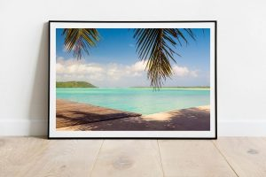 lagon de Bora Bora en Polynésie