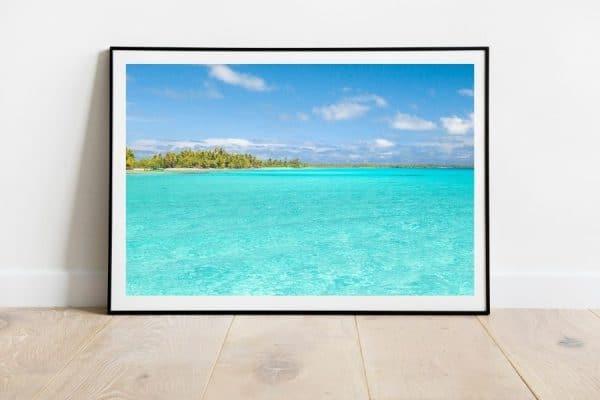 couleurs paradisiaques du lagon en Polynésie