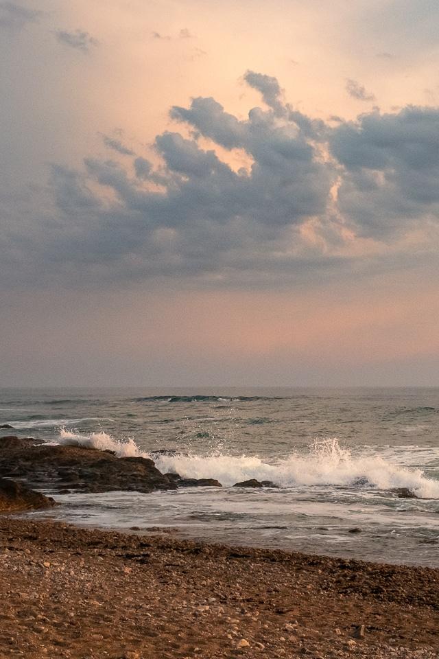 coucher de soleil aux sables d'olonne